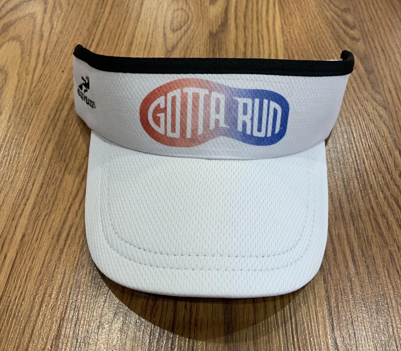 Gotta Run Lifestyle Headsweats Supervisor - White with Red/White/Blue Shoeprint logo