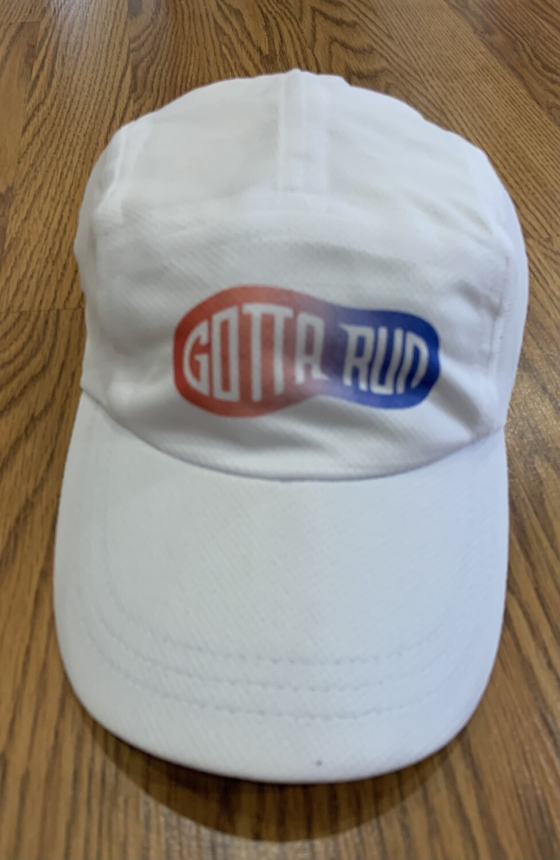 Gotta Run Lifestyle Headsweats Race Hat - White w/ Red/White/Blue Shoeprint logo