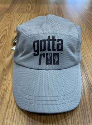 Gotta Run Lifestyle Headsweats Race Hat - Gray w/ Black Lettering