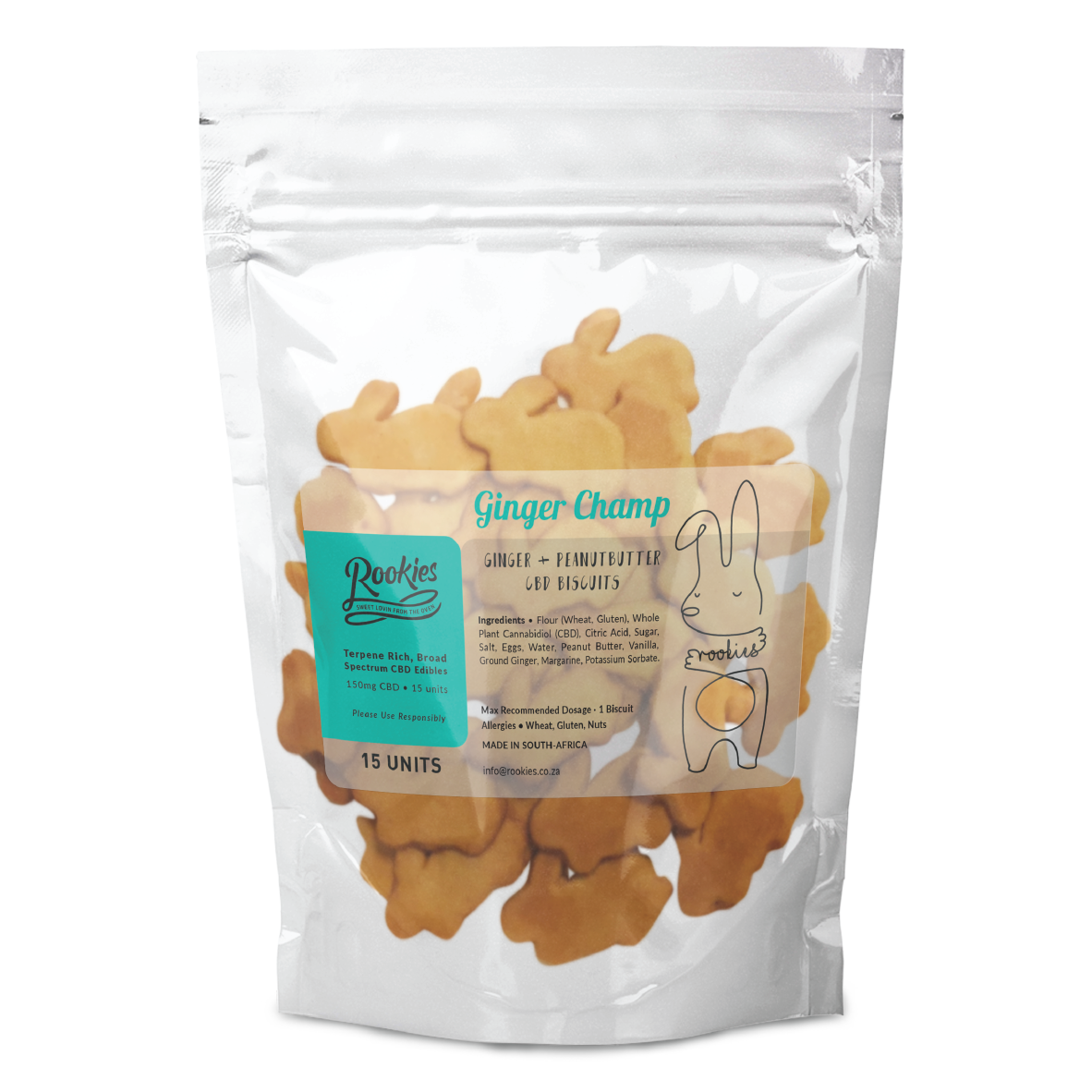 CBD Biscuits - Peanut Butter & Ginger