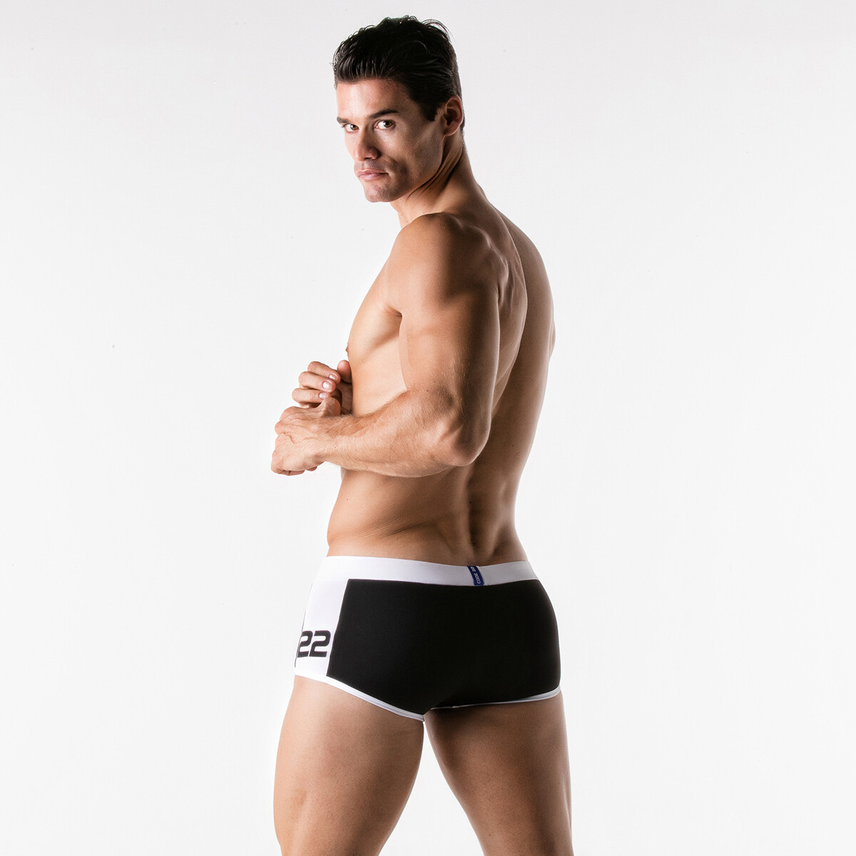CODE 22 - 5913 | Ribbed Swim Boxer