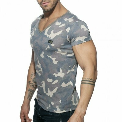ADDICTED - AD800 Washed Camo T-Shirt