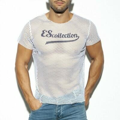 E.S. COLLECTION - TS254 Open Mesh T-Shirt