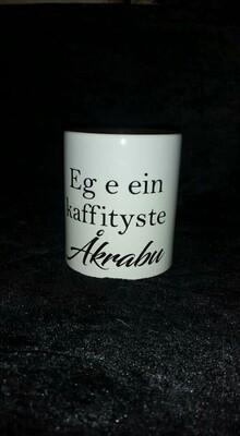 Kaffekopp kaffityste Åkrabu