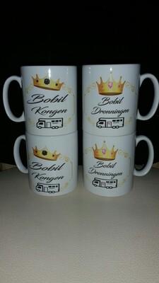Bobil Dronningen / Konge krus