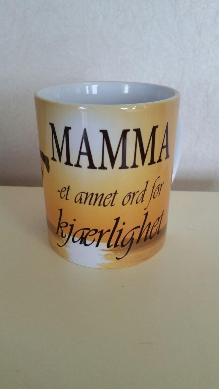 Mamma et annet ord for kjærlighet krus