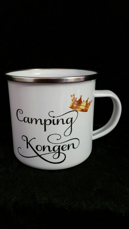 Camping kongen emaljekopp