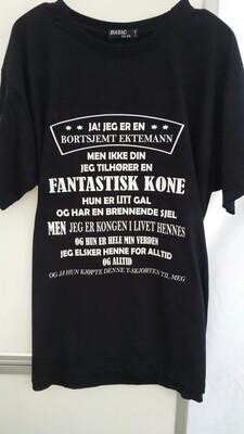 Bortsjemt ektemann T shirt