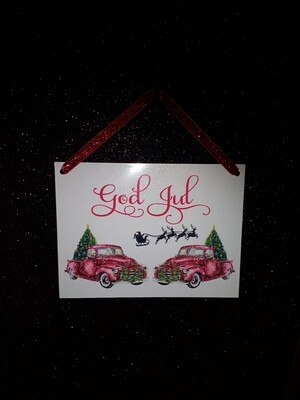God Jul skilt