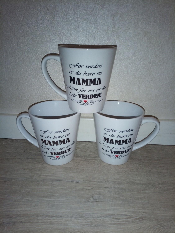 Latte krus Mamma for hele verden