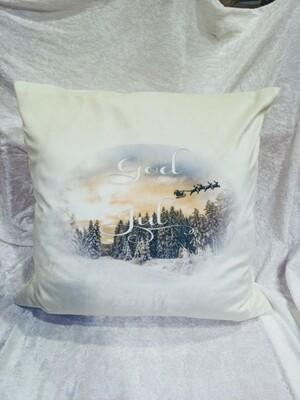 God Jul putetrekk i hvit velour
