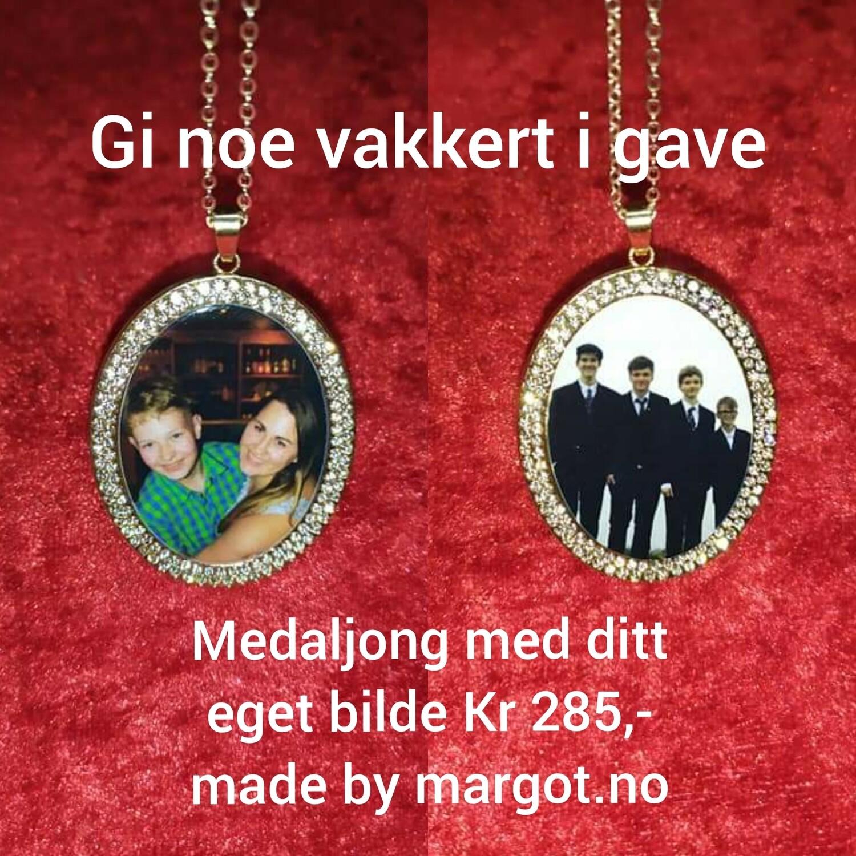 Medaljong med ditt eget bilde