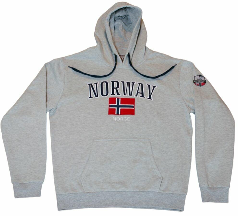 Norway hettegenser, lys grå
