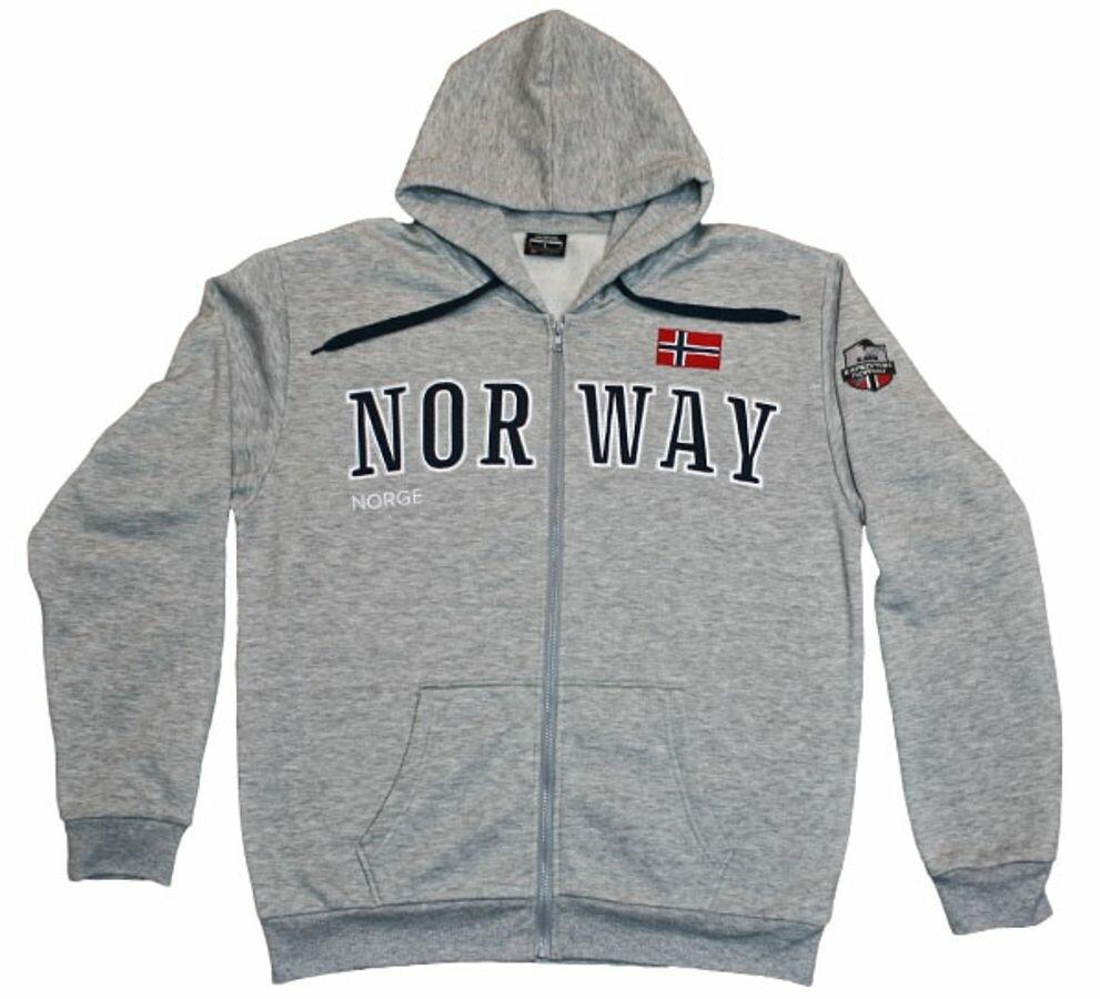 Norway hettejakke lys grå