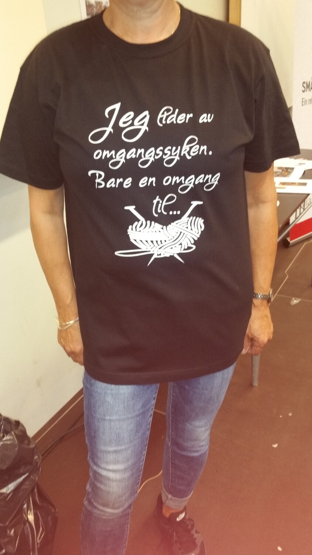 Strikke t-shirt