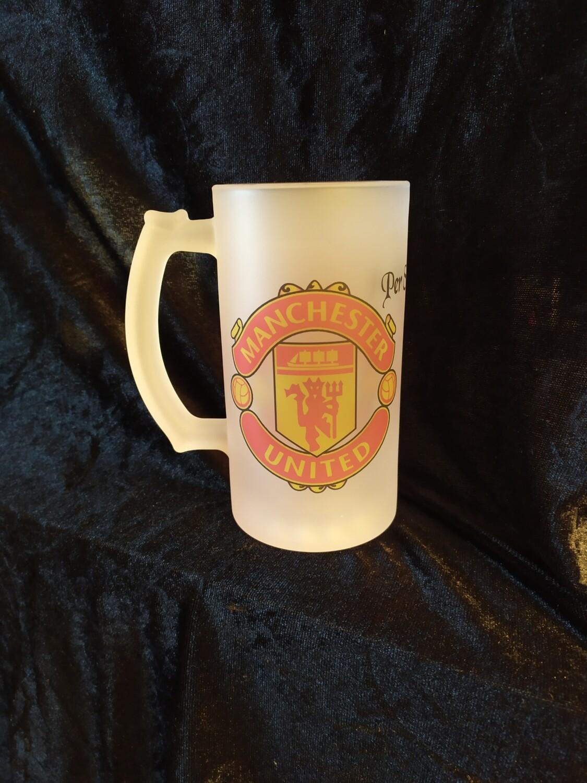 Manchester United logo øl krus 0.5L