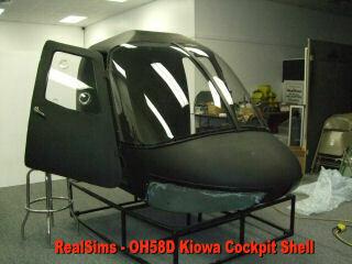 OH 58D Kiowa Cockpit Shell