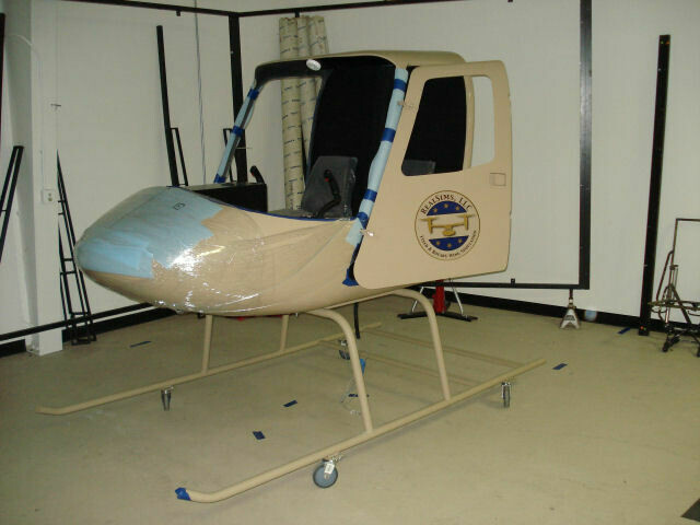 Bell 206B Fiberglass Cockpit Shell