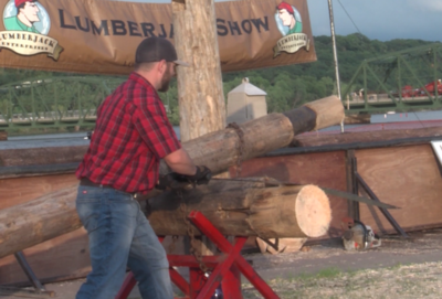 Lumberjack Demonstration at Lumberjack Days : July 20, 2019