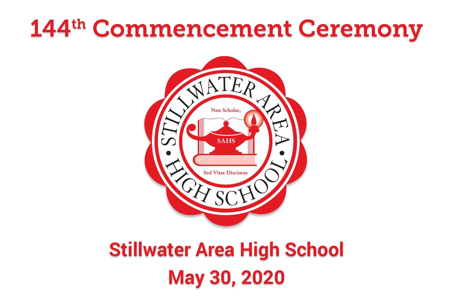 2020 SAHS Virtual Commencement : May 30, 2020