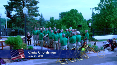 Croix Chordsmen sing at the Stillwater Memorial Day Ceremony: May 31, 2021