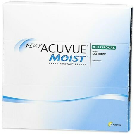 1-DAY ACUVUE MOIST Multifocal 90 Pack (90 Lenses/Box)