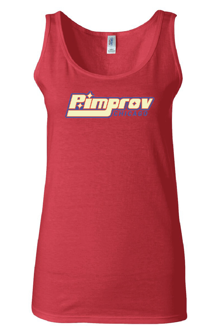 Pimprov Women's Tank. Cherry