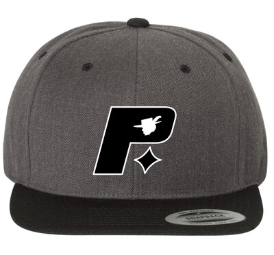 Pimprov Baseball Hat. Grey & Black
