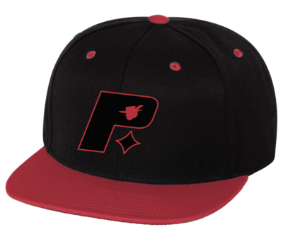 Pimprov Baseball Hat. Black & Red