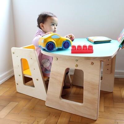Mesa + Cadeira Grow Altura Regulável