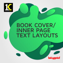 Book Cover/Inner Text Layout Design for Publishers