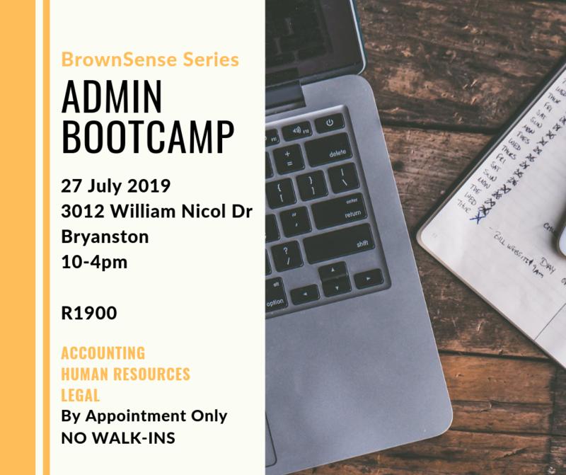 BrownSense Series: Admin Bootcamp