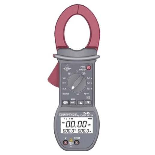 Kusam Meco KM-2745, Power Clamp Meter with Harmonics