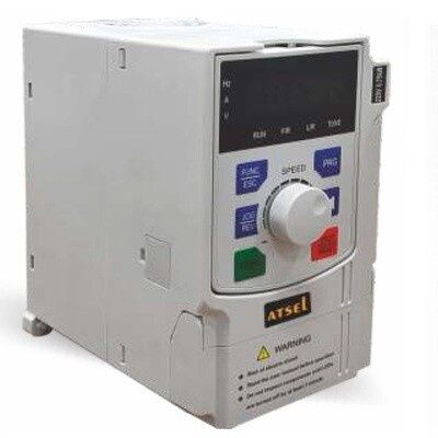Atsel VFD 1 phase input - 3 phase output 1HP / 0.75 KW - Variable Frequency Drive