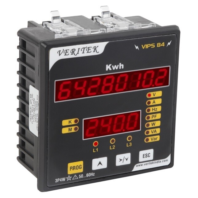 Veritek VIPS-84 Digital KWh Meter CT operated