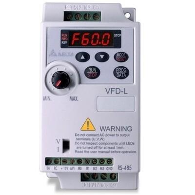 Delta VFD002L21A | Delta VFD - Delta AC Drive 0.25 HP, Input 1ph