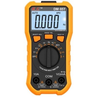 HTC DM85T Digital TRMS Multimeter with Hz and Temp