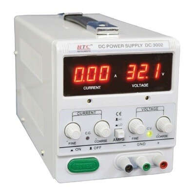 HTC DC 3002  - DC Regulated Power Supply 0-30VDC 0-2A