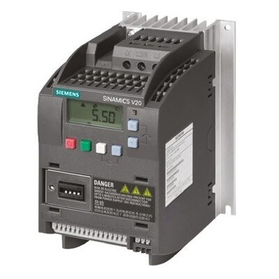 Siemens Inverter Drive, 3-Phase 0.37 kW / 0.50 HP SINAMICS V20