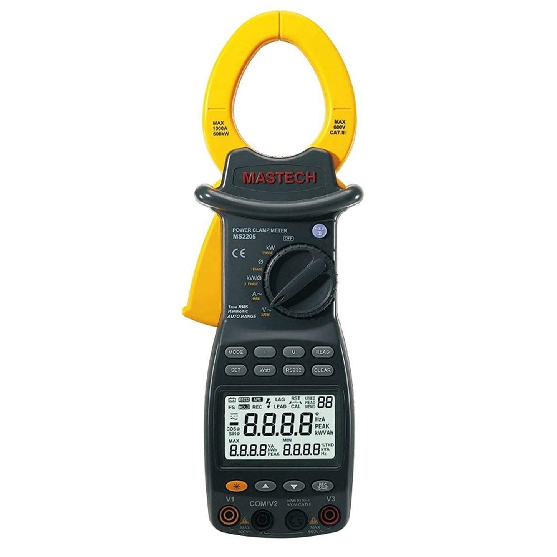 Mastech MS-2205 Digital Three Phase Power Clamp Meter with Harmonics Measurement