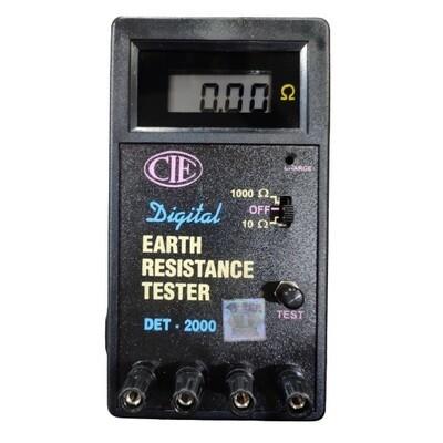 CIE DET-2000 Digital Earth Resistance Tester Range 0-10-1000 ohms