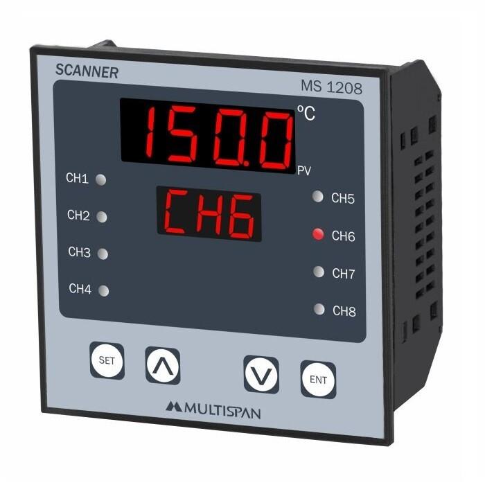 Multispan MS-1208 8 Channel Temperature Scanner