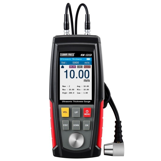 Kusam Meco KM-131D Ultrasonic Thickness Meter with Rechargeable  batteries