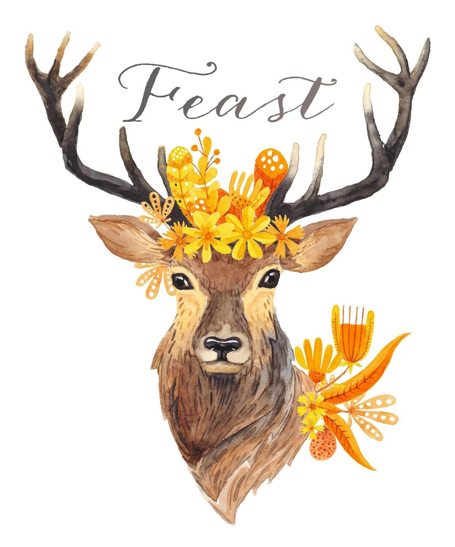 """""""Feast"""" Deer Fall Printable"""