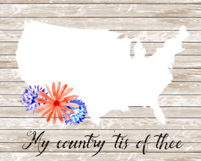 My Country Tis of Thee Patriotic Printable