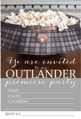 Outlander Premiere Party Invitations Free Printables