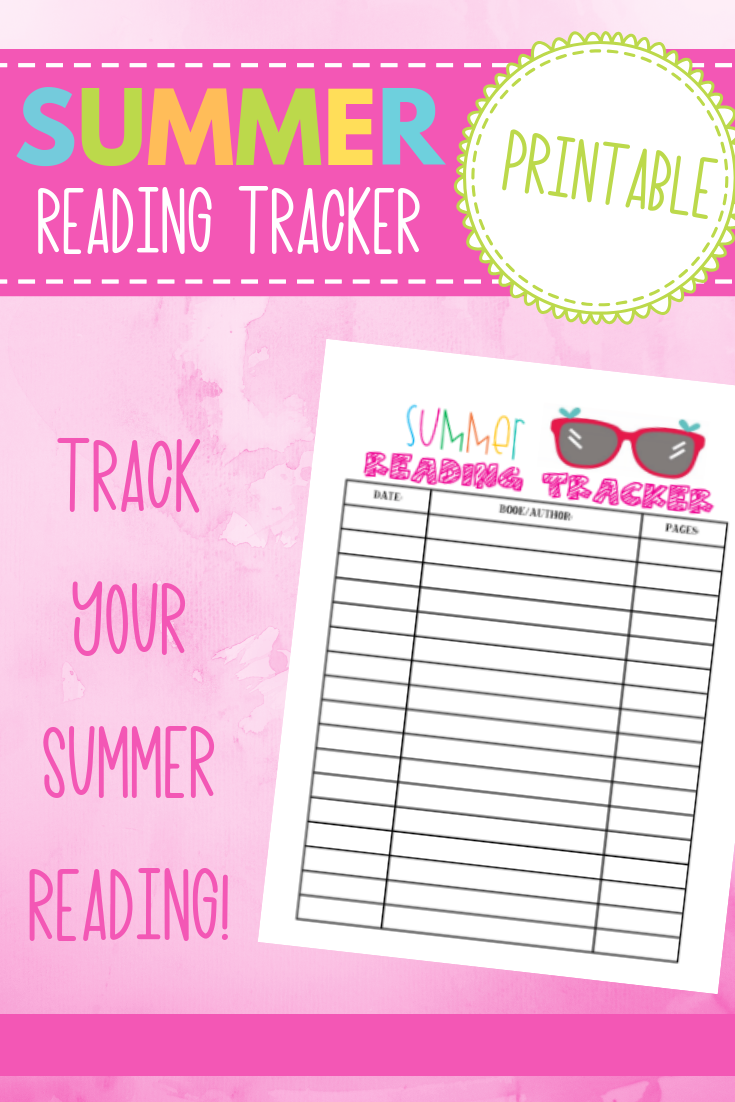 Summertime Fun Series- Summer Reading Tracker