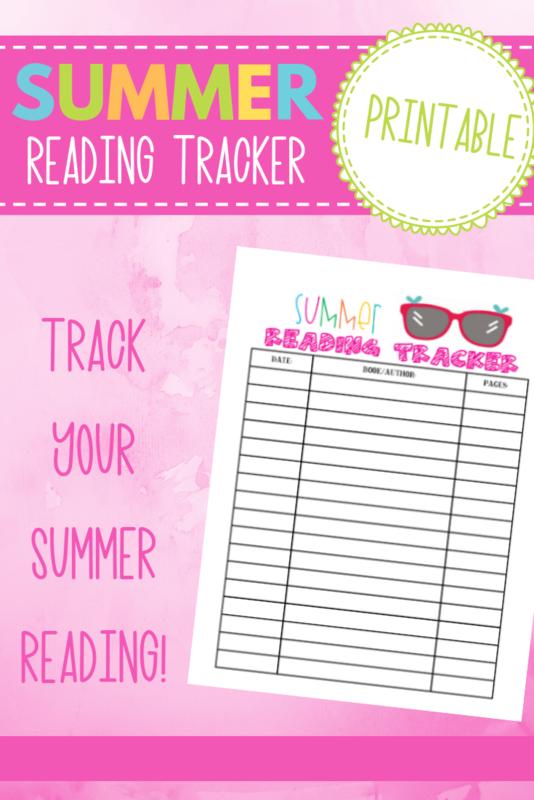 Summertime Fun Series- Summer Reading Tracker