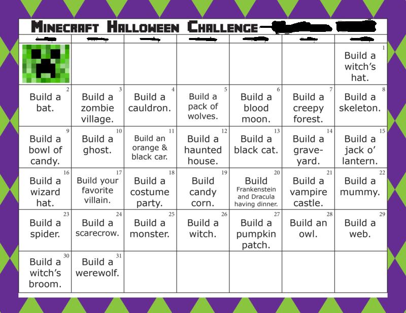 Minecraft Halloween Challenge