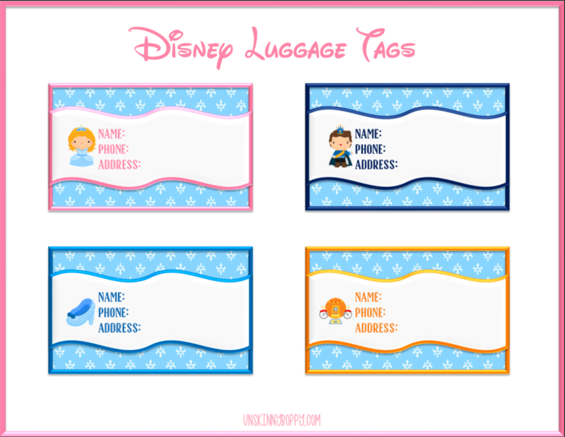 Disney Luggage Tags {Cinderella Themed}